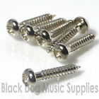 Guitar Screws, 2.6mm x 14mm, Dome Head, in Chrome, or Black