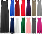 New Ladies Women Bow Knot Tie Strapless Bandeau Maxi Dress Plus Size