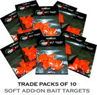 TRADE PACK OF 10 - BAIT TARGETS for Spinning Lures, etc. (1x Packet RRP £1.99ea)