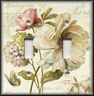 Light Switch Plate Cover - French Flowers/Floral Vintage Shabby Chic Home Decor