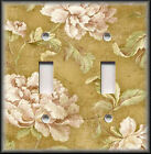 Light Switch Plate Cover - Roses On Tan Vintage Shabby Chic Home Decor Floral