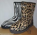 UGG Classic Short Exotic Boots Shoes Sheepskin Haircalf Cheetah Zebra 7 8 9 10