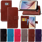 For Samsung Galaxy S6 G920 With Starp Case Leather Embossed + Soft Rubber Inside