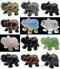 Hand Carved 40mm - 45mm Natural Gemstone Elephant Figurine Home Decor Sculpture