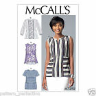 McCall's 7390 Sewing Pattern to MAKE Pullover Tops Hem & Sleeve Variations