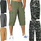 NEW MENS GAP CARGO COMBAT 3/4 SHORTS CASUAL SUMMER COTTON CHINO SMART HALF PANTS