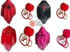 New Small Spanish Flamenco Dance Shawl & Accessory Set, Fan & Hair Flower Girls