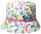 Girls Bush Hat Butterfly Print Design & 3D Detail Summer Cotton Bucket Cap  New