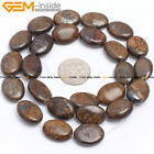 """Natural Stone Bronzite Gemstone Beads For Jewelry Making 15"""" Oval Smooth/Faceted"""