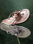 Ladies Summer Flat Sandals - Lilac/Pink