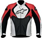 Alpinestars Men's Black/White/Red Jaws Perforated Leather Jacket