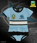 CRONULLA SHARKS NRL TEAM GIRLS FOOTYSUIT TUTU FRILL SKIRT BABY INFANT ONESIE