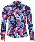 WOMENS NEW RETRO MOD 60s 70s PAISLEY SURF SHIRT BLOUSE Psychedelic MC226 K149-50