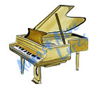 Piano Music Instrument Vinyl Decal Sticker - Auto Car Truck RV Cell Cup Boat
