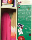 Chalkboard Wallies Wall Stickers 4 Panels Removable Green Peel and Stick School