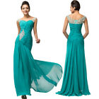Off Shoulder Long Bridesmaid Formal Gown Wedding Evening Prom Cocktail Dresses