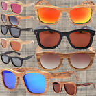 Natural Wood Bamboo Wayfarer Sunglasses Gradient Polarized REVO Wooden Shades