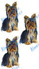 Yorkie Small Breed Show Dog Pet Vinyl Decal Sticker - Auto Car Truck RV Cup Boat