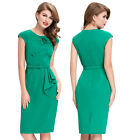 Evening Short Bodycon Sleeveless Party Retro Vintage Bodycon Pencil Dress Green