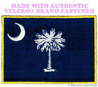 SOUTH CAROLINA STATE FLAG PATCH EMBROIDERED APPLIQUE w/ VELCRO® Brand Fastener