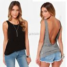 Sexy Women Back Deep V Backless Sleeveless Vest Tank Tops Blouses Camisole Shirt