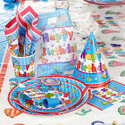 12 Place Setting Birthday Party Paper Tableware Plates Cups Napkins Paperware