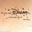 Wandtattoo Walt Disney If you can dream it, you can do it. 80x35cm Z406 Sterne