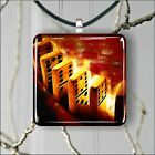 DOMINO GAME FASHION DESIGN SQUARE PENDANTS NECKLACE MEDIUM OR LARGE -dse3Z