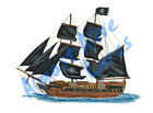 Pirate Ship Blackbeard Black Pearl Decal Sticker - Car Truck RV Cup Boat Tablet