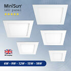 Ultra Slim Recessed LED Flat Panel Square Ceiling Lights Downlights Spotlights