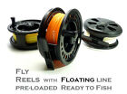 LA78 Fly Fishing Reel with #7/8/9 FLOATING Fly Lines Loaded - All Ready to Fish!