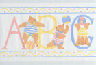 Alphabet Bears ABC Pastel Playful Ball Nursery Childrens Vtg Wallpaper Border