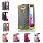 For New LG G3 D850 D855 Hard Case Bicolour Tough Armor Rubber Plastic Back Cover