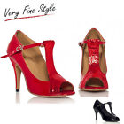 New Red Black Womens Ballroom Dance shoes SALSA Latin Bachata Dance Shoes US 5-9