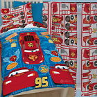 "Disney Cars Deconstructed Single Duvet & Matching 54"" Drop Curtains Bed Set"