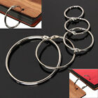 10Pcs Metal Hinged Ring Book Binder Craft Photo Album Split Keyring ScrapbookLAU