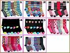 6 pairs LADIES GIRLS FASHION DESIGNER COTTON SOCKS One Size to Fit 4-6