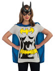 Sexy Batgirl Halloween T-shirt & Cape Adult Womens Halloween Costume S-XL
