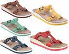 Fantasy Leather Lined Twin Buckle Wedge Summer Holiday Womens Sandals UK3-8