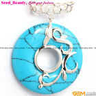 Seed_beauty Ring Donuts Stone Bead Pendant For Necklace, Free Gift Box/Bag