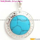 23mm Cabochon Coin Stone Bead Pendant For Necklace, Free Gift Box / Bag
