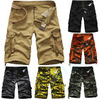 Casual Mens Cotton Summer Army Combat Camo Work Cargo Shorts Pants Trousers Hot