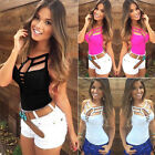 Sexy Womens Summer Vest Top Sleeveless Blouse Casual Bandage Tank Tops T Shirts