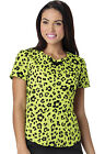 Wild You Were Out HeartSoul Jungle Cruise Sweetheart Neck Scrub Top 20907 WISY