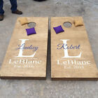 Wedding Cornhole Decal | Set of 2 | Personalized CornHole Sticker | His and Hers