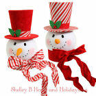 Snowman Head Christmas Tree Topper Red White Peppermint RAZ rzchhh 3516494 NEW