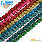 8mm Colorful Volcanic Lava Round Ball Beads For Jewelry Making Free Shipping 15""