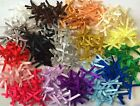 New Mini Satin Ribbon Bows x 25 Card Making Craft Embellishments Lots of Colours
