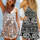 Sexy Women Sleeveless Summer Beach Casual Loose Party Short Mini Dress S-XL