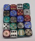 20 Six Sided Pearl Dice Board Games 16MM RPG D6 NEW